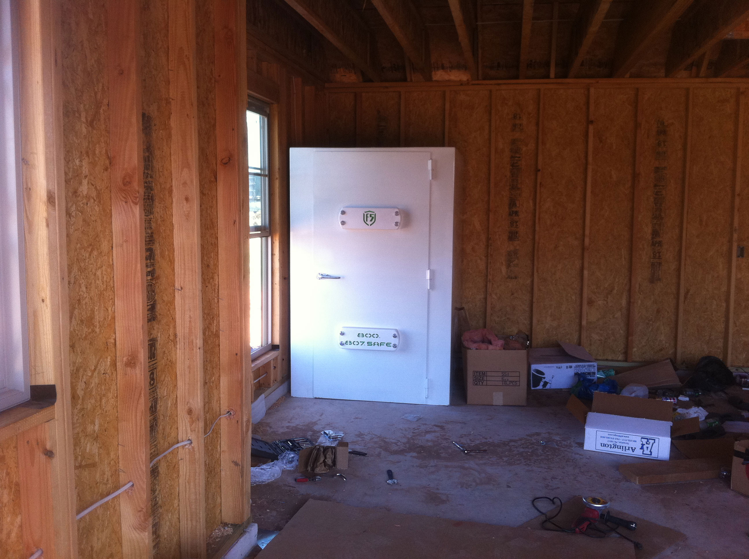 Storm safe rooms f5 storm shelters of tulsa okc for Buy safe room