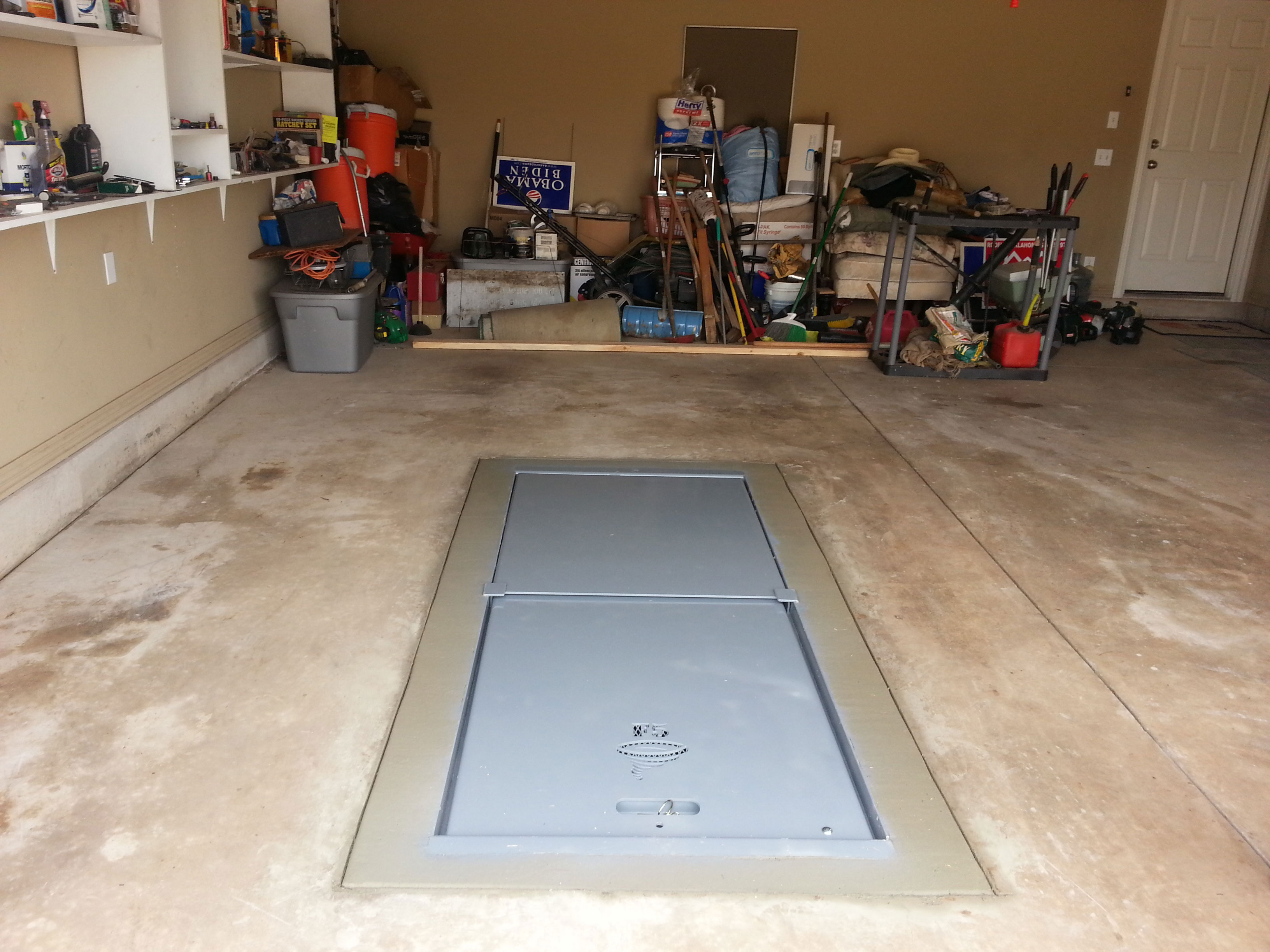 Garage Tornado Shelter : Storm shelters f of tulsa okc part