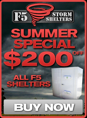 F5 Storm Shelters 2015 Summer Savings Special!!!